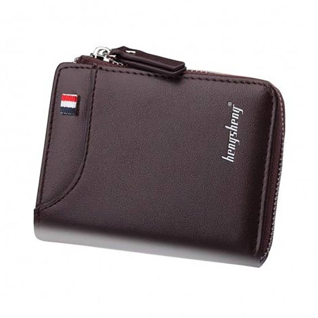 محفظة رجالية متعددة الوظائف محفظة جلدية قصيرة للرجال محفظة hengsheng