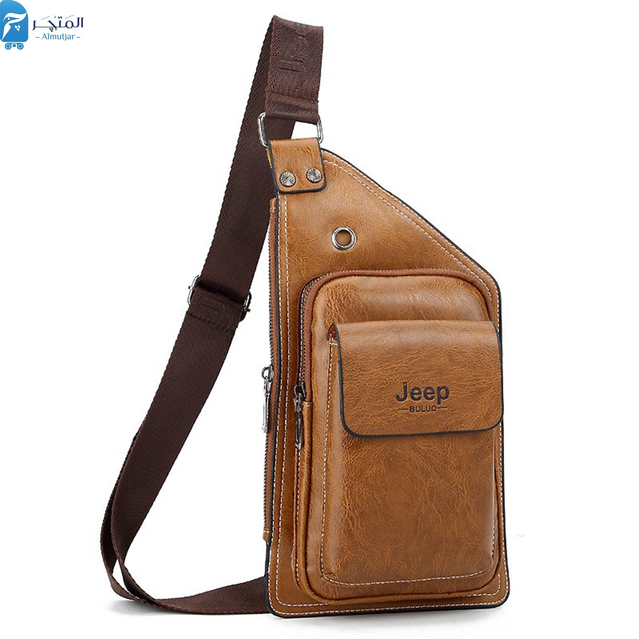 حقيبة كروس جلد حقيبة ماكس جيب بولو  بزراع واحد للرجال